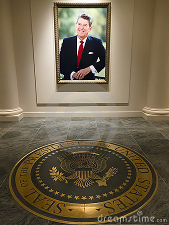 Ronald Reagan Presidential Library Editorial Photo