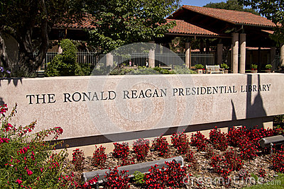 Ronald Reagan Presidential Library Editorial Stock Image