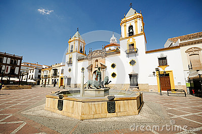 Ronda, Andalusia, Spain. Plaza Del Socorro Royalty Free Stock Images - Image: 25938019