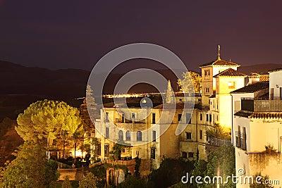 Ronda at night. Andalusia, Spain