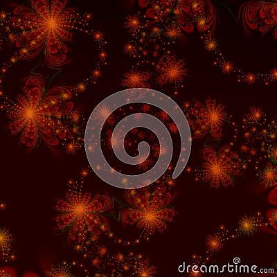Abstract ontwerp als achtergrond van rode star-like patronen op zwarte ...