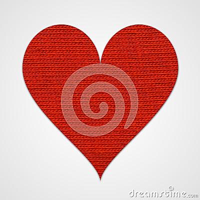 Rood katoenen hart