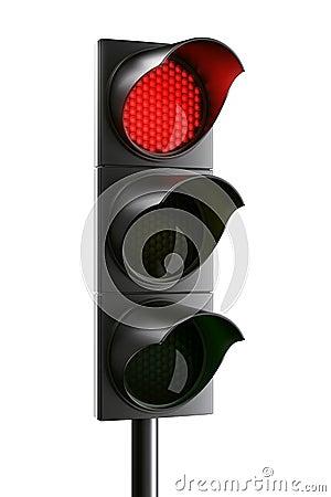 rood verkeerslicht stock afbeeldingen afbeelding 5214824. Black Bedroom Furniture Sets. Home Design Ideas