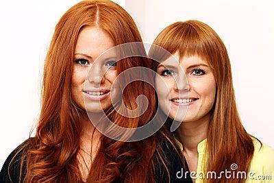 paar Russisch rood haar