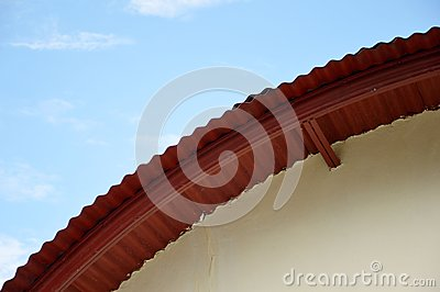 Roof of an ancient building