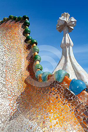 Roof architecture at Casa Batllo