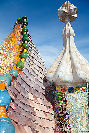 Roof architecture at Casa Batllo