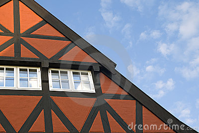 Roof of a bavarian house