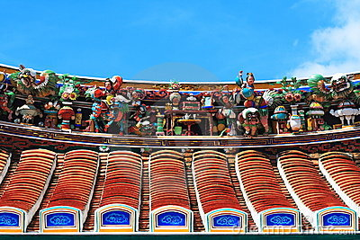 Roof of Buddhism Temple