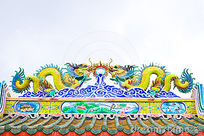 Roof by China s style,Chinese shrine