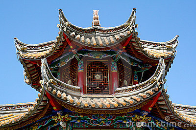 Roof Of A Chinese Pagoda Royalty Free Stock Photo Image
