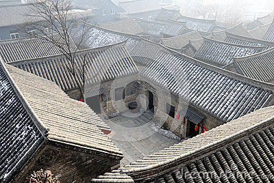 The roof of Chinese town