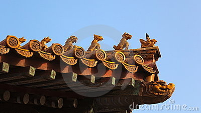 Roof decorations. Forbidden City. Beijing. China.