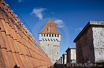 Roof and defence tower