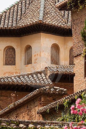 Free Roof Detail From Inside The Alhambra Palace Stock Photography - 23587222