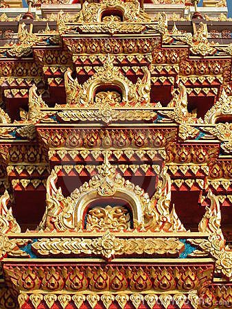 Roof detail at Wat Chalong, Phuket, Thailand
