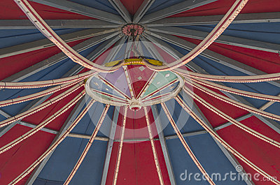 Roof of a fairground carousel