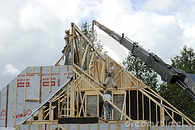 Roof frame and crane Editorial Photography