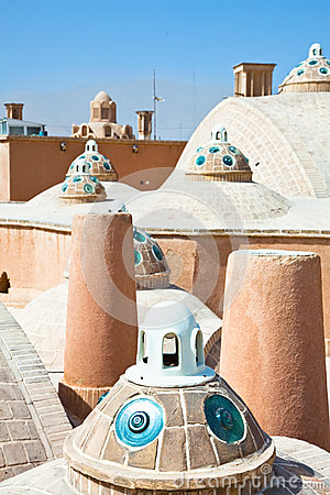Roof of  Hammam ,  Kashan , Iran