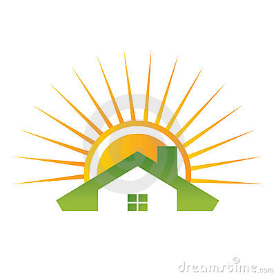 Roof house with sun