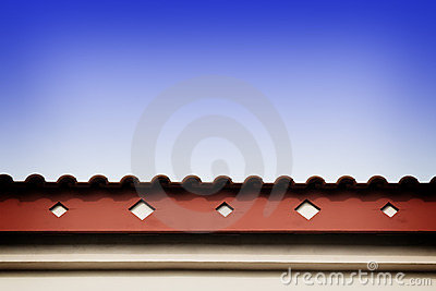 Roof line with fascia