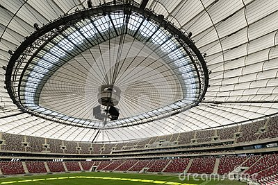 Roof of the National Stadium in Warsaw, Poland Editorial Stock Photo