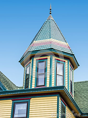 Free Roof Of A House, Victorian Style, Cape May, NJ,USA Stock Photo - 37101150