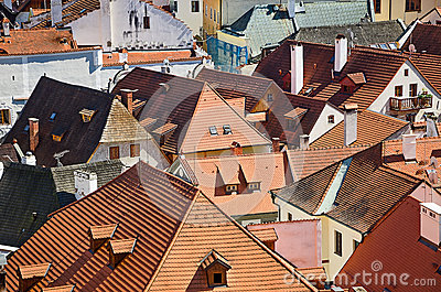 Roof of an old European city