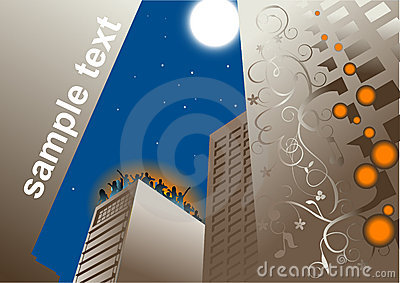 Roof party background vector