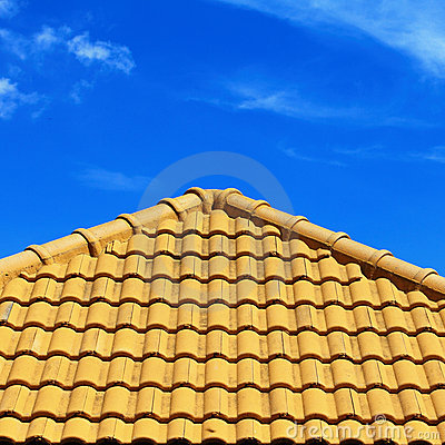 Free Roof Pattern And Blue Sky Stock Image - 17320951