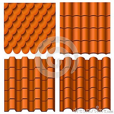 Free Roof Pattern Set Stock Photos - 30701193