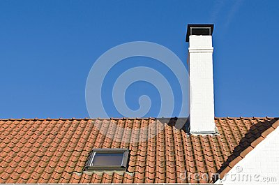 Roof of red tiles