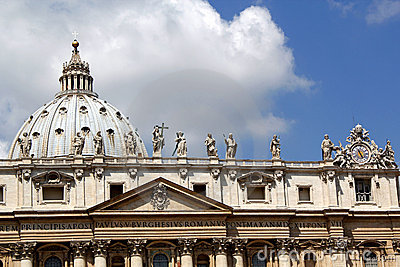 The roof of St Peters Basilica, the Vatican