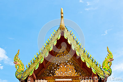 Roof temple buddha in thailand