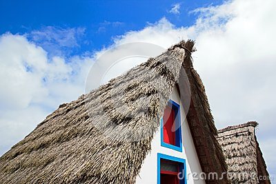 Roof of thatch of a typical house of Madeira