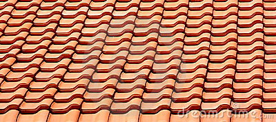 Roof tile in line