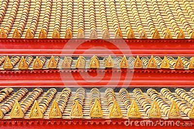 Roof tiles classic in thailand temple