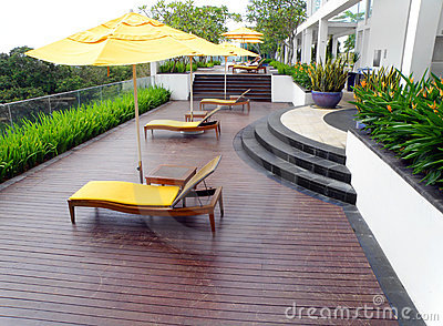 Roof top garden design