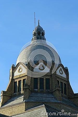 Roof top of novi sad synagogue