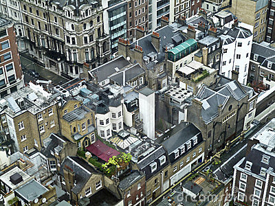 Roof tops in central London,