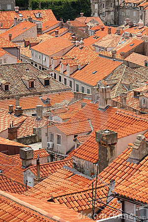 Roof tops of Dubrovnik old city