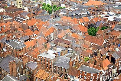 Roof tops in York, UK