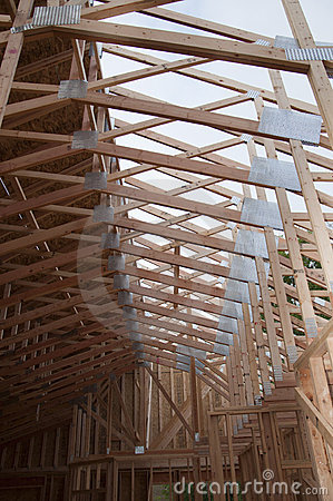 Free Roof Trusses Half Sheeted Stock Images - 15259524