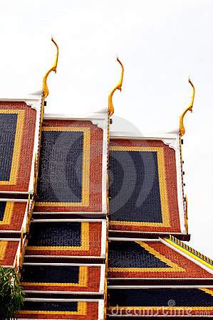 Roof of Wat Phra Kaew Grand Palace Temple, Bangkok