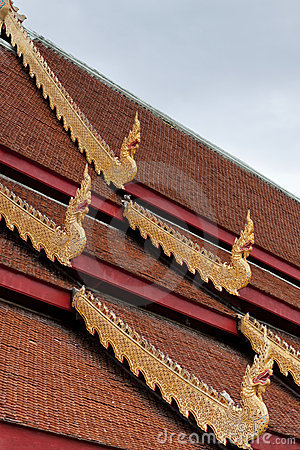 Roof of Wat Phra Sing; Thailand