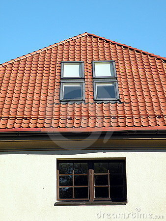 Roof with windows