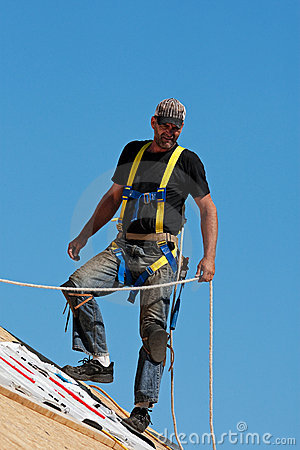 Free Roofer At Work Royalty Free Stock Photography - 11837777