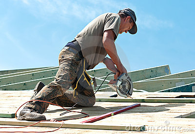 Roofer with rotary drill