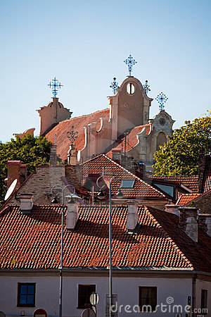 Roofs of churches and houses