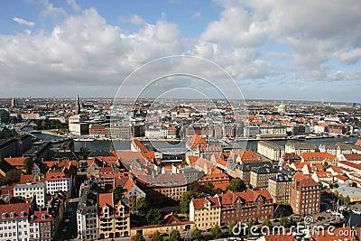 Roofs of Copenhagen, Denmark